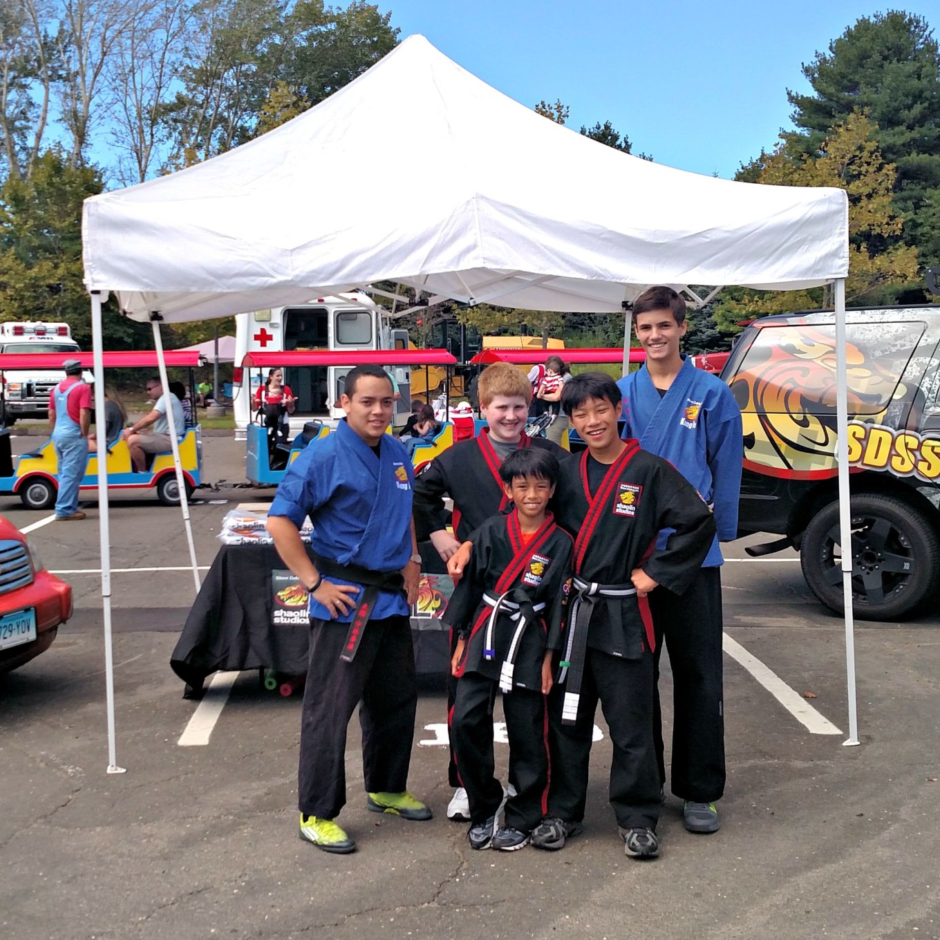 Steve Demasco Shaolin Studios of Fairfield attends Touch A Truck Event on September 20, 2015