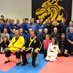 SDSS Team Picture with GrandMaste Steve DeMasco and Shaolin Monk Sifu Yanxu