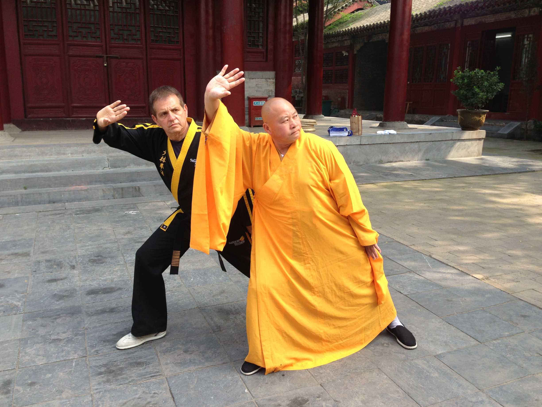 grandmaster steve demasco at shaolin temple