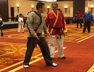 Grandmaster DeMasco and Senior Master Mikael Meyer